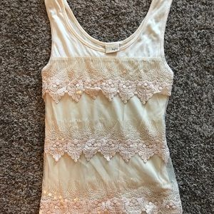 Daytrip lace and sequins tank top